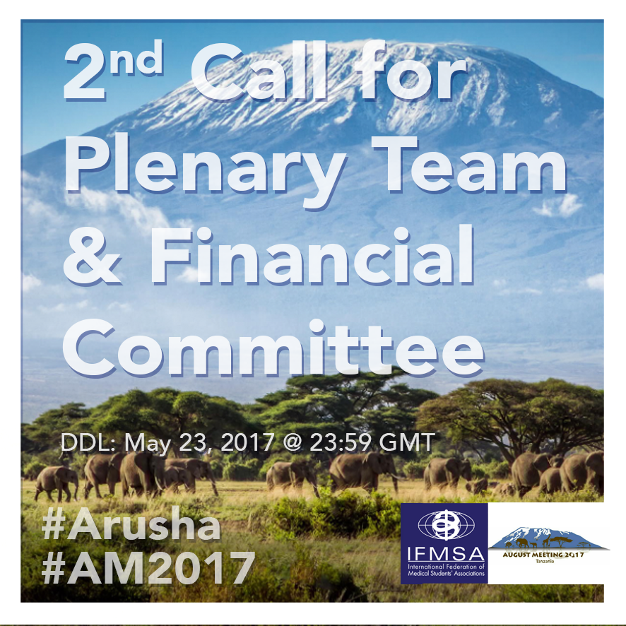 Call for Plenary Team and Financial Committee members