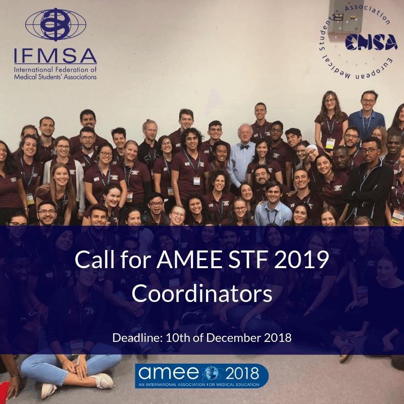 AMEE 2019 STF Coordinator Call