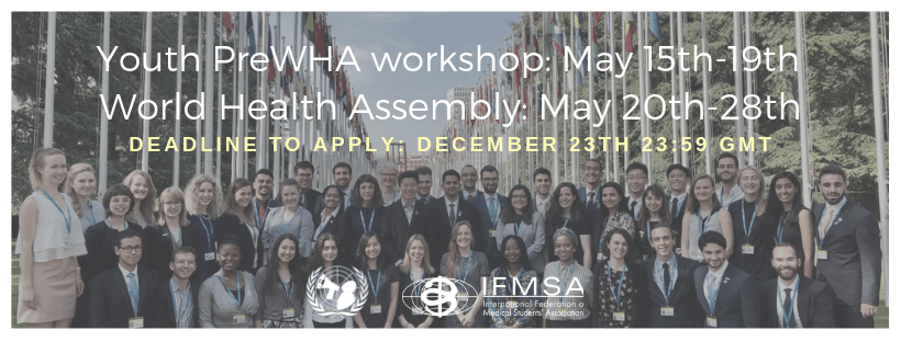 Call for Youth PreWHA 2019 Participants and WHA Delegates