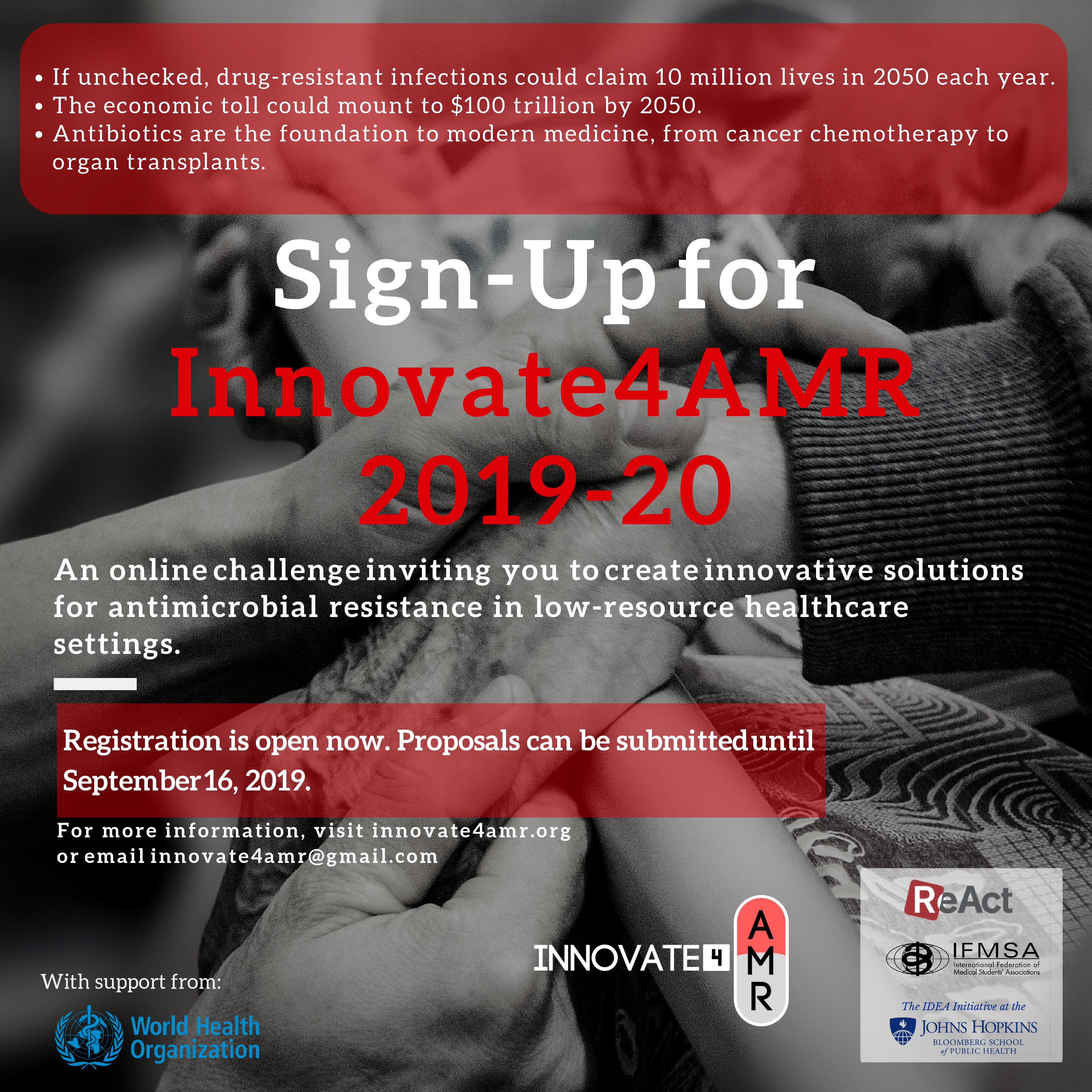 Sign up for Innovate4AMR!